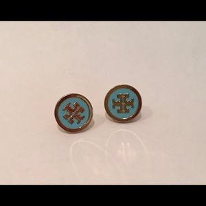 Rare find! Tiffany blue color Tory Burch earrings!